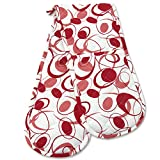 Double Oven Gloves, Smart Home, Red Classic, 1 Piece, Long Mitts, Heat Resistant, 100% Cotton, Extra Thick, Quilted