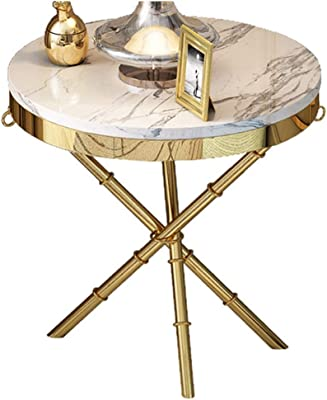 Excellent Amazon Com Diamond Sofa Reed Round Marble Top Accent Table Caraccident5 Cool Chair Designs And Ideas Caraccident5Info