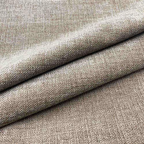 Kt KILOtela Tela de tapicería Lisa - Chenilla - Tacto Suave Aterciopelado - Muy Resistente - Retal de 200 cm Largo x 140 cm Alto | Marrón