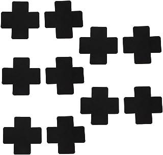 TENDYCOCO Copricapezzoli adesivi a 10 paia con pasticcini monouso a forma di cuore per ragazze nero