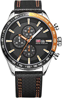 MINI FOCUS Mens Business Watch Casual Sport Watches Fashion Quartz Chronograph Waterproof Wristwatch with Date Display for Mens Gift MF0029G