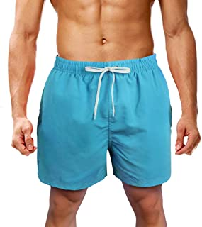 Civilever Mens Swim Trunks Quick Dry Gradient Color Beach Shorts Watershorts Holiday Casual Sports Wear with Pockets and Adjustable Drawstring