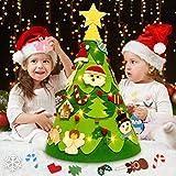Divertimento per i bambini : Il nostro albero di feltro fai-da-te di Natale sarà molto divertente per i più piccoli, i bambini potranno decorare insieme e farli divertire durante il periodo natalizio. Sarebbe un grande regalo di Natale per i tuoi pic...