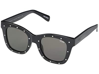 QUAY AUSTRALIA After Hours (Black Silver/Smoke/Rhinestone) Fashion Sunglasses
