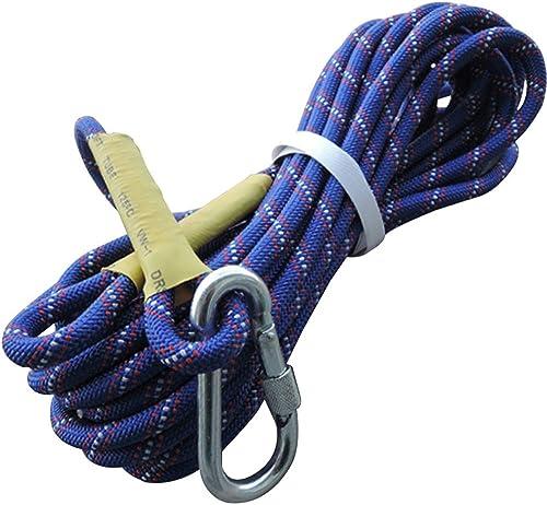 Escalade Corde Corde de Haute résistance, Douille de Prougeection de Corde pour L'Aventure en Plein air, Corde d'escalade de Polyester, Corde de sécurité extérieure