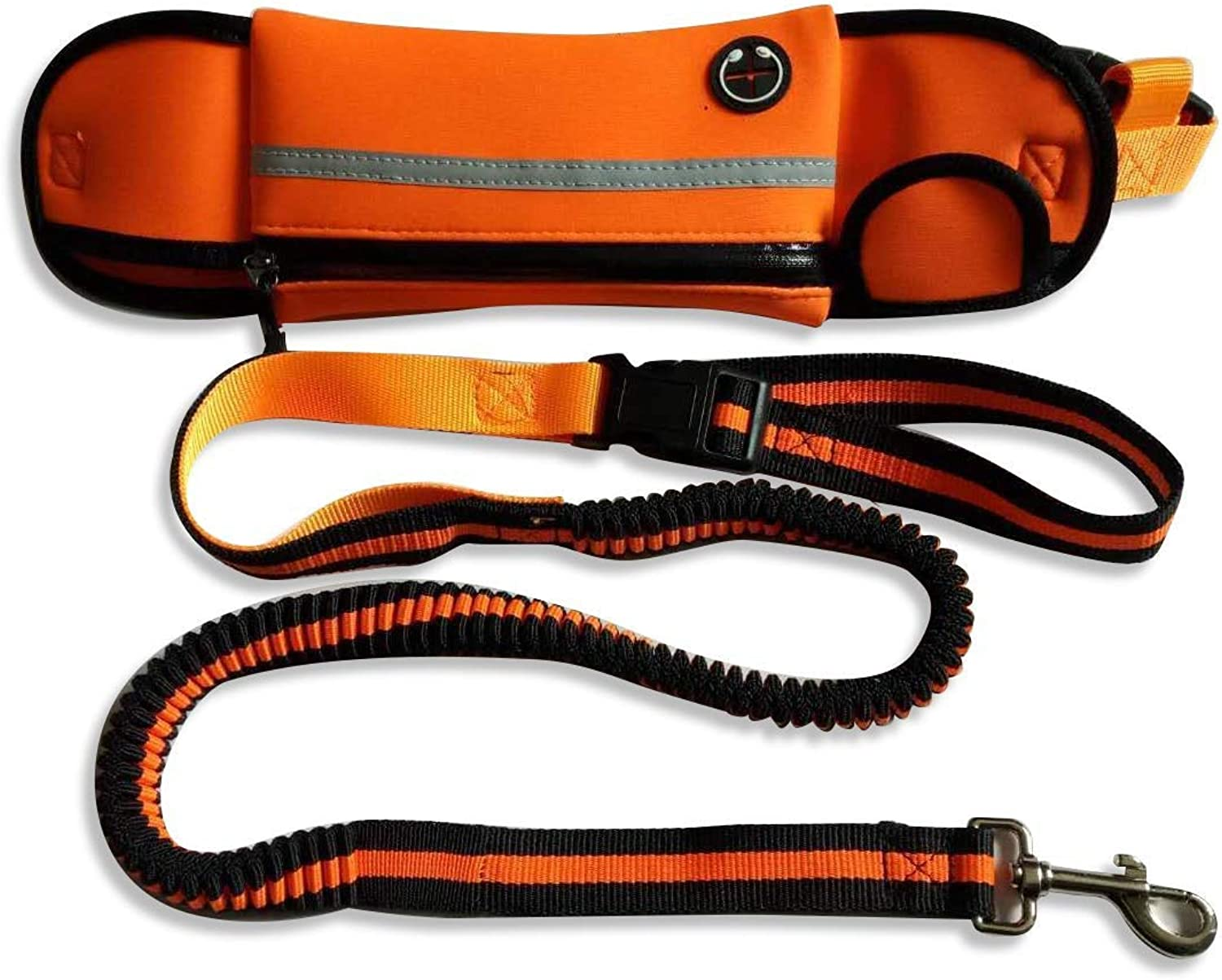 FANQIECHAODAN Traction Rope Sports Pockets Pet Telescopic Traction Rope Heavy Duty Rope Leash for Small and Medium Petfor Shock Absorption (color   orange)