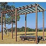 タカショー ガーデンパーゴラ アルエバー藤棚 シングル HD-18 焼