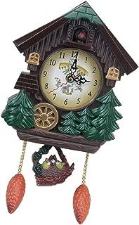 SM SunniMix Cuckoo Clock Quartz-Movement, Superior PC Material, Decorative Wall Clock, Children Room Decoration, Brown