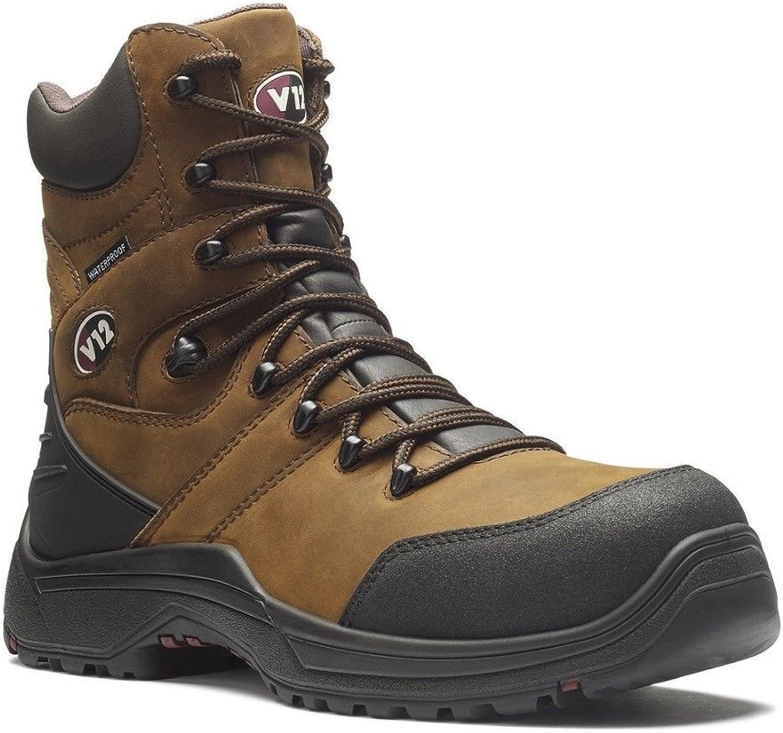 V12 Rocky IGS Chaussures de sécurité imperméables Marron V1255.01 6-12 S3 SRC Zip Side