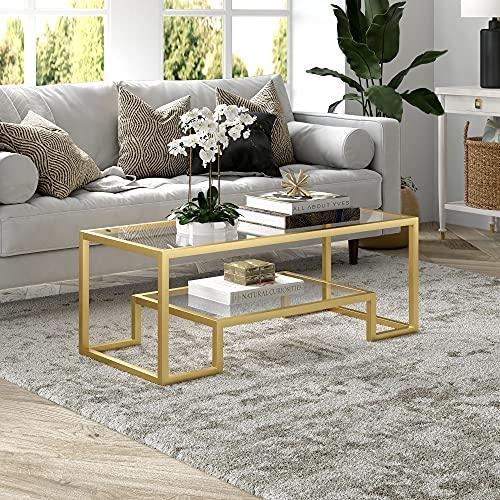 Henn&Hart Geometric Coffee Table, One Size, Gold