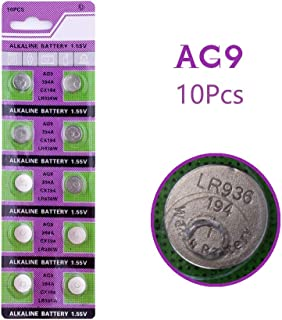 Cotchear Button Cell Watch Batteries 1.5v AG9 194 LR936 Count 10Pcs