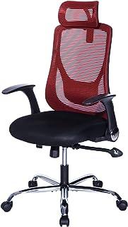Wapipey ワインレッドン オフィスチェア 跳ね上げ式アームレスト 約125度ロッキング 固定可能 座面昇降 オールメッシュ ランバーサポート ボリューム座面 腰サポートクッション PUキャスター(傷つきにくい静音タイプ) アーク ブラック