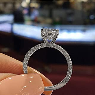 Gold Filled Sapphire Ring Engagement Bridal Wedding Band Rings Jewelery Ring Under 5 Dollars Valentine's Day Gifts for Girlfriend Wife 2020 Renewed Fashion
