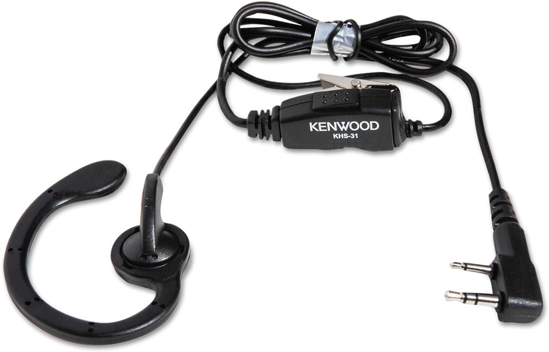 Kwd KHS31 Monaural Over-The-Ear Headset& 44; 2-Pin -Black