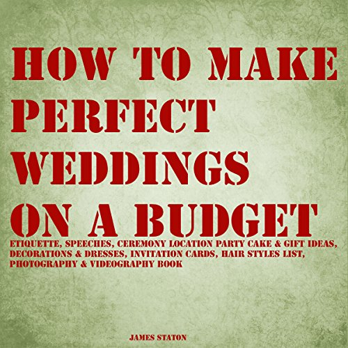 How to Make Perfect Weddings on a Budget audiobook cover art