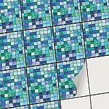 creatisto Vinyle adhésif Autocollant I PVC Sticker - Embellissez Carreaux muraux de Cuisine et Salle de Bain I Repositionable et Facile à appliquer (15x20 cm I 12 - Pièces)
