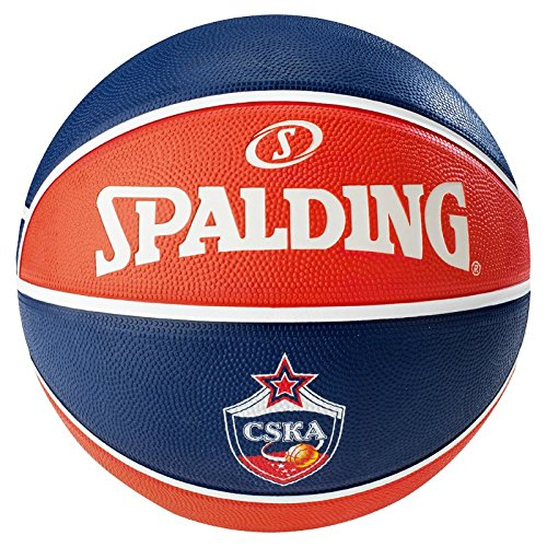 Spalding Basketball Elteam CSKA Moskow Sz.7, 83-077Z Ball, marine/Rot, 7