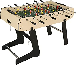 Fran_store 48 Inch Folding Foosball Table Soccer Foosball Table for Adults and Kids