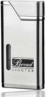 UUMART - Refillable Red Jet Flame Butane Lighter, Cigarette & Cigar Lighter in Metal with 3 Random Colors
