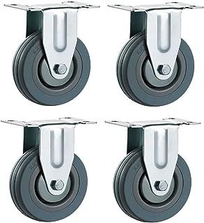 Akozon Roue Porte 4 Roulette pivotante /à Ressort en Caoutchouc Heavy Duty 220lbs Capacit/é de Charge Roue Universal Duty Heavy Duty
