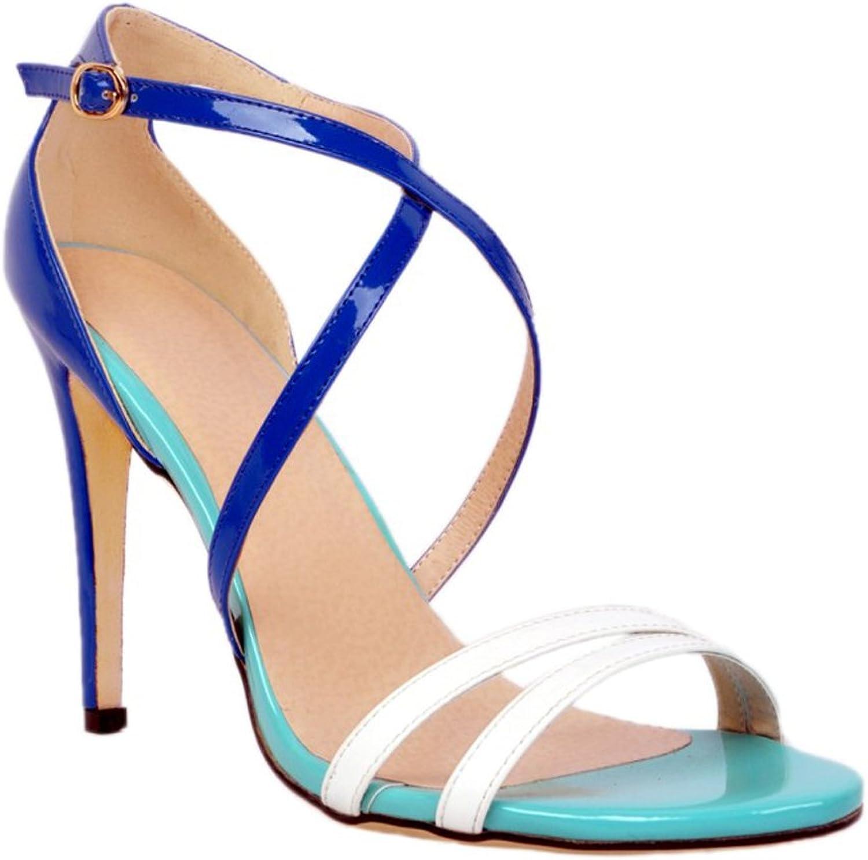CASSOCK Ladies Crosscriss Strap High Heel Open Toe Spring Summer Sandals shoes