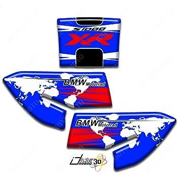 KIT 4 ADHESIFS 3D PROTECTION RESERVOIR COMPATIBLES BMW S1000XR 00180 MAPPA BLEU