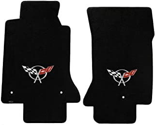 For 97-04 Corvette C5 Velourtex SILVER CROSSFLAGS Liners Carpets