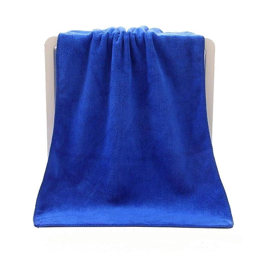 投獄ボタン重要性CXUNKK 2PCS / LOTマイクロファイバーサンディングヘアタオル超吸収性タオル (Color : Blue)