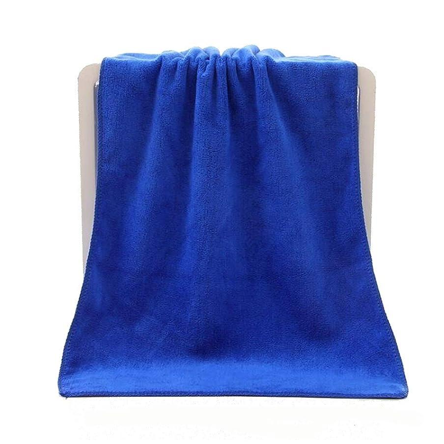 彼の同行ビュッフェCXUNKK 2PCS / LOTマイクロファイバーサンディングヘアタオル超吸収性タオル (Color : Blue)