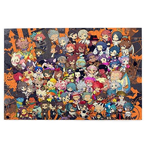 Picture Puzzle 1000 Piece,Inazuma Eleven Anime - Puzzle Personalizado, Divertidos Y Bonitos Rompecabezas para Niños Adultos,75.5x50.3cm