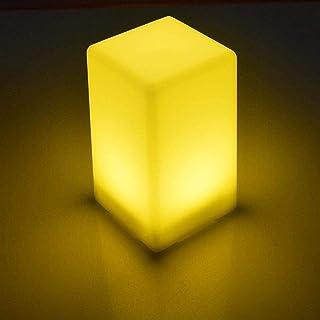Lampe de Table Lampe de bureau LED cube moderne, élégante et simple, veilleuse LED cube avec design en forme de cube, ABS ...