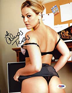 ALEXIS TEXAS PSA DNA Coa Autograph 8x10 AVN Photo Hand Signed