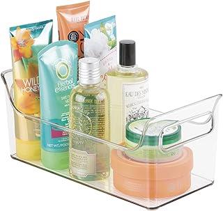 mDesign serviteur de douche portable – Organisateur de douche et baignoire – Tablette de douche - Couleur: transparent