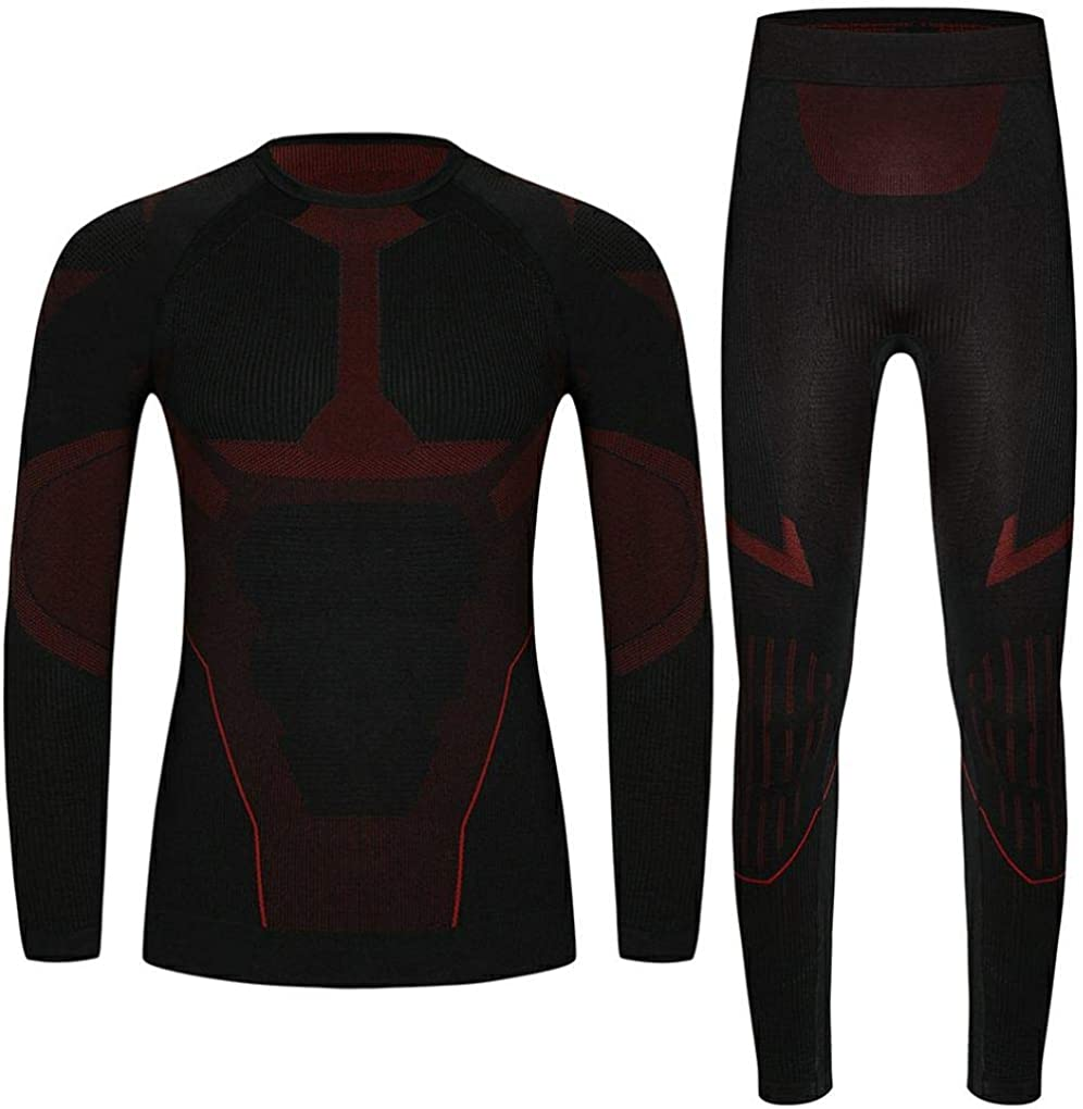 Mens Ultra Soft Warm Stretchy Base Layer Top and Bottom Thermal Underwear Long John Set