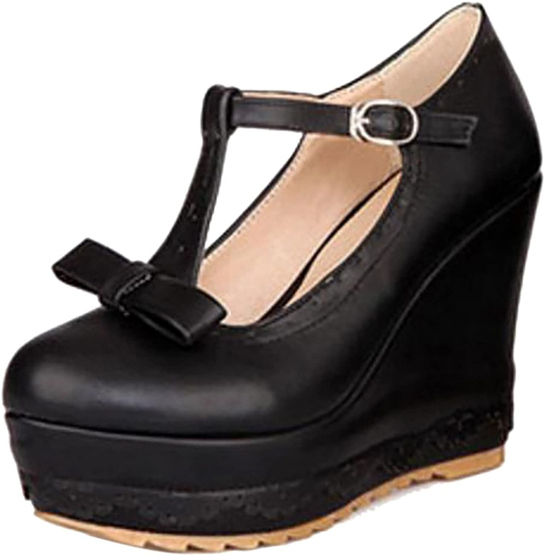 TAOFFEN Women's Fashion Wedge Heels Court shoes