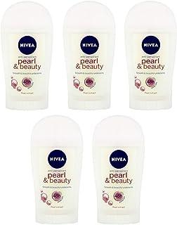 5x Nivea Pearl & Beauty Anti-perspirant Deodorant Stick for Women 5x40ml (Pack of 5)