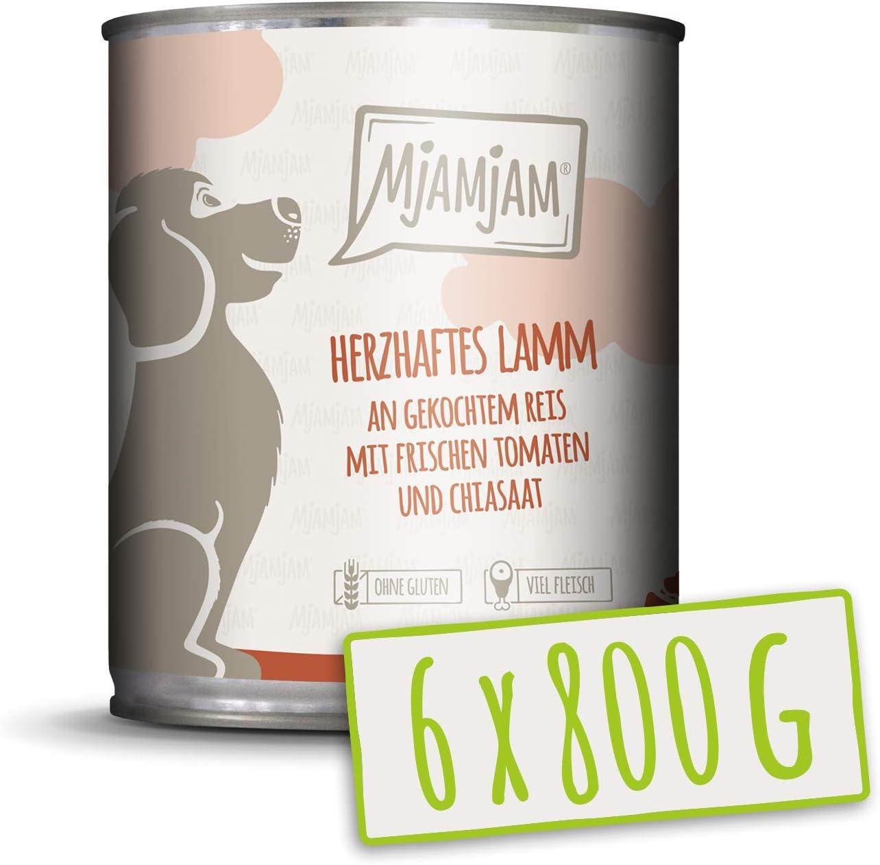 MjAMjAM Wet Dog Food Snackbox para Perros, 800 G