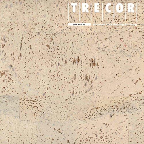 """TRECOR Korkboden\""""SIENA\"""" - Korkfertigboden mit CLIPEX Klicksystem in 24 Farben mit Keramiklack/Antiscratch Oberfläche lieferbar (Natur) - Format: 900 x 300 x 10 mm (Creme)"""