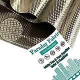 Faraday Fabric Emf Protection Fabric NEWBEAU Radiation Blocking Fabric for Signal Blocking Copper Nickel RFID Shielding Fabric 1 Yard, (1 Yard, 44'' 36'')