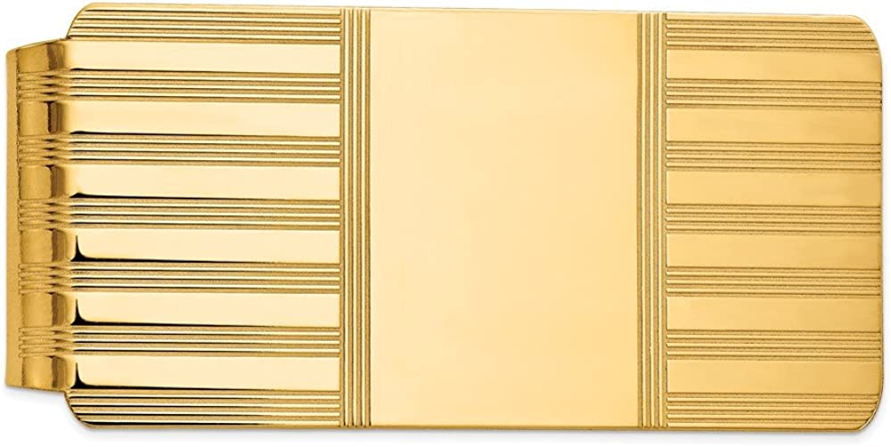 Solid 14k Yellow Gold Seattle Mall Weekly update Men's Slim Card Holder Mon Business Credit