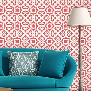 J BOUTIQUE STENCILS Moroccan Trellis Allover Wall Stencil Liliane for DIY Modern Wall decor