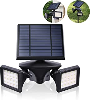 EMANER Motion Sensor Solar Light Outdoor, Dusk to Dawn Wireless Security LED Flood Light, 6000K 40LEDs Very Bright, 2-in-1 Solar Powered Landscape spot Lights Waterproof for Garden/Driveway/Porch
