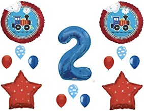 NEW! Two Two Train 2nd Birthday Party Balloons Decoration Supplies Second