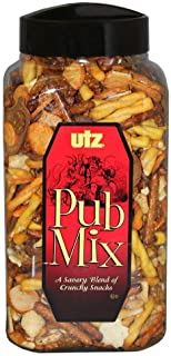 Utz Pub Mix - 44 Ounce Barrel - Savory Snack Mix, Blend of Crunchy Flavors for a Tasty Party Snack - Resealable Container ...