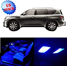 SCITOO LED Interior Lights 10pcs Blue Package Kit Accessories Replacement for 2011-2013 Infiniti QX56