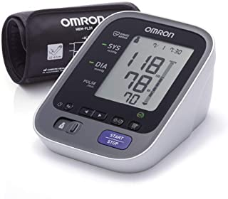 OMRON M7 Intelli IT - Tensiómetro de brazo, Bluetooth, aplicación OMRON Connect para móviles, tecnología Intelli Wrap Cuff  + Adaptador de Corriente