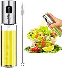 Olive Oil Sprayer, Spray Bottle, Portable Oil Dispenser, Oil Mister for BBQ, Salad, Baking, Roasting, Grilling, Frying, Glass Bottle, FDA Approved, 3.4-Ounce Capacity, Including Free Tube Brush