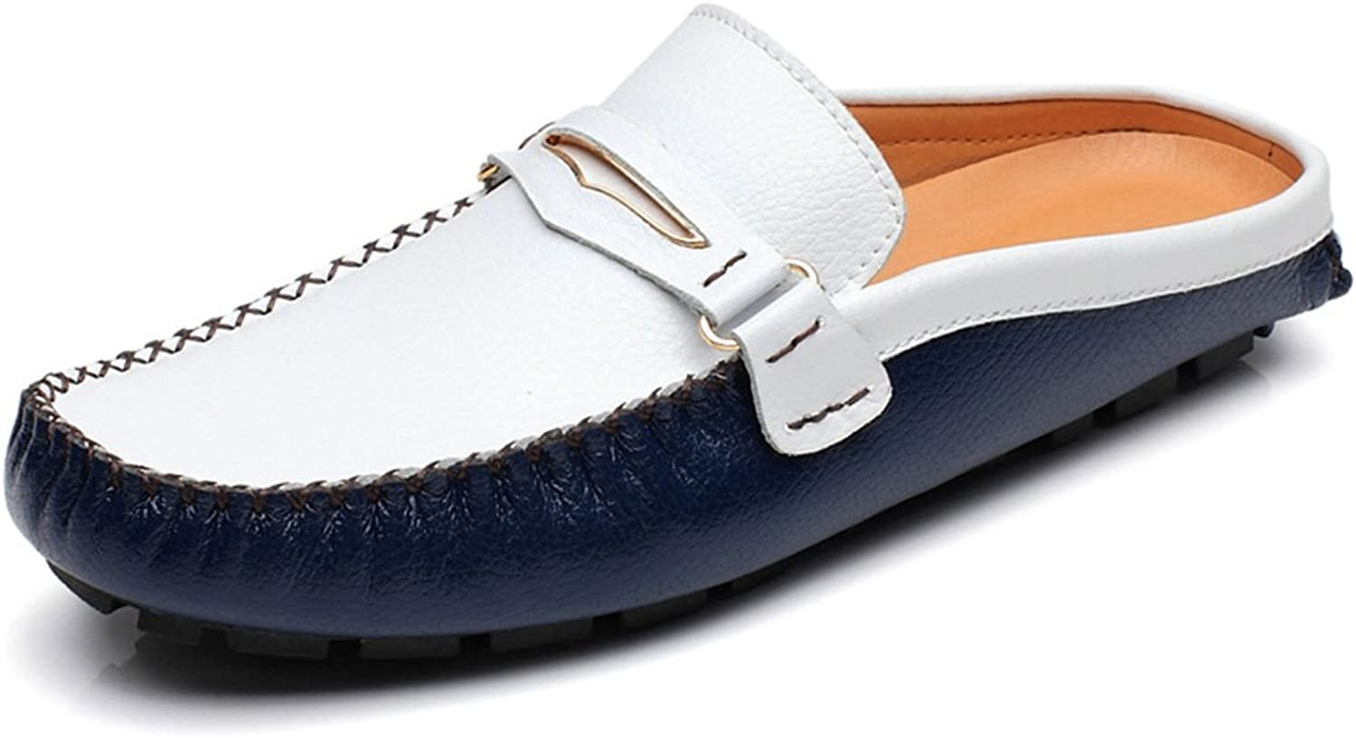 Go Tour Mens Tassels Leather Mule Slip-on Backless Slippers shoes