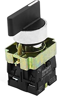 uxcell a14090200ux0565 ZB2-BE101 SPDT 2NO 4 Terminal 3-Position Rotary Selector Switch AC600V 10A