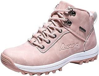WILLBE Women Warm Ankle Sneakers Anti-Slip Lightweight Ankle Bootie Waterproof Slip on Sneakers Winter Outdoor Shoes